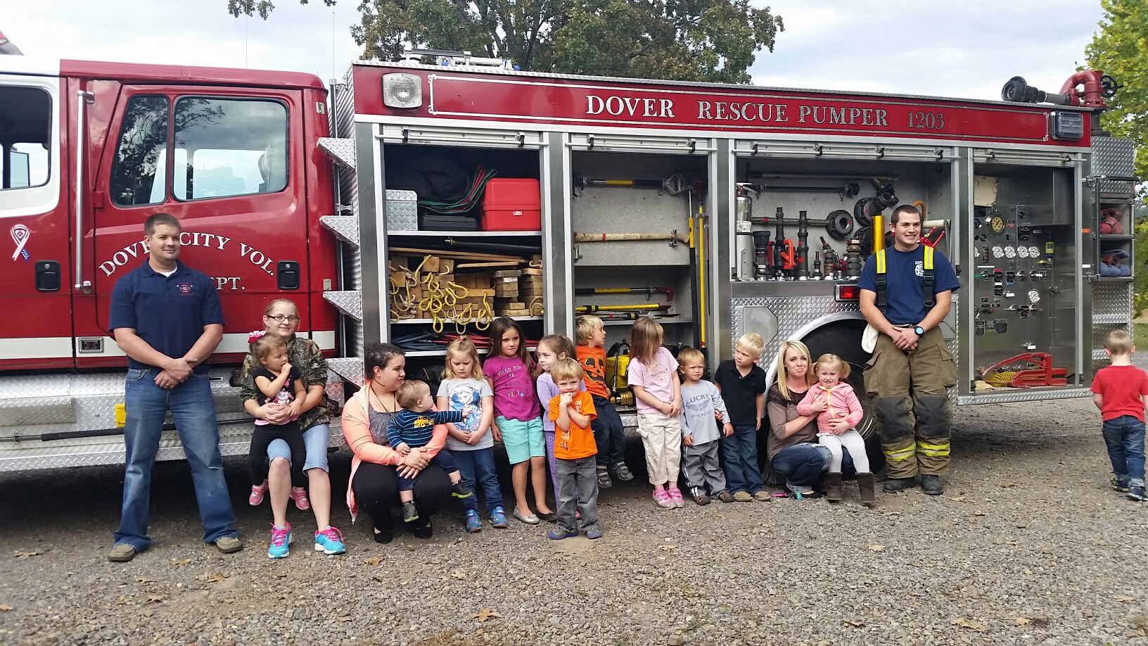 Pre-Schoolers and fire Dept.